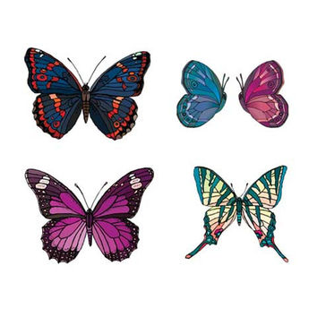 Purple and Blue Butterfly Sheet
