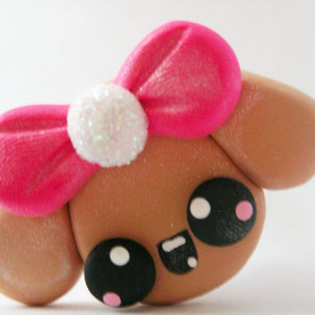 Drawer Pulls Knobs Kawaii Puppy Girl Pound Puppies for Girls Bedroom Dresser Drawer Girly Pink and Tan