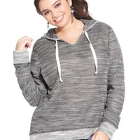 Extra Touch Plus Size Hoodie | macys.com