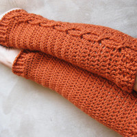 Cable Legwarmer Crochet Pattern
