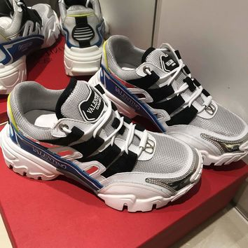 Valentino Men's Leather Climbers Sneakers Shoes