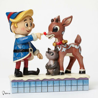Enesco Jim Shore Rudolph Traditions Hermey Touching Rudolph's NoseNIB 4047939