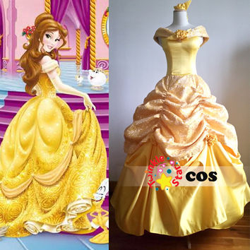halloween costumes for women princess costume women adult princess Belle  Beauty and the Beast costume cosplay Fancy dress