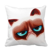 Funny Angry Cat Pillow