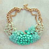 Pree Brulee - Green Nebulous Necklace