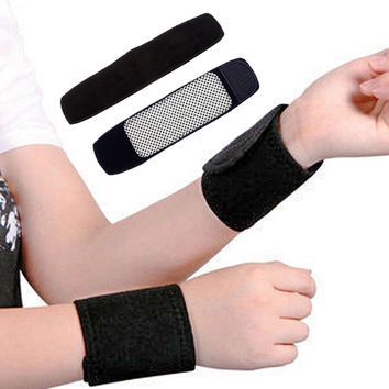 Health Care Appliance Tourmalineline Spontaneous Heat Wrister Far-infrared Magnetic Therapy Bracer