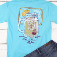 Sweet Tea Mason Jar Tee {Lagoon Blue}