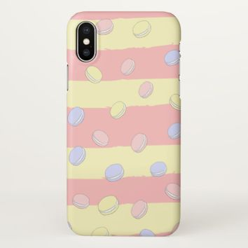 Claire Blossom Macaroon iPhone X Case