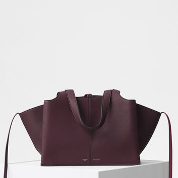 Small Tri-Fold Bag in Baby Grained Calfskin