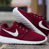 NIKE Roshe Women Men Running Sport Casual Shoes Sneakers RED