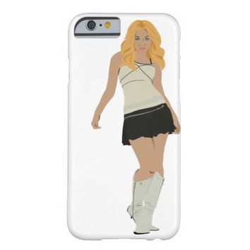 Fashion Girl in Mini Skirt and Boots Iphone Case Barely There iPhone 6 Case