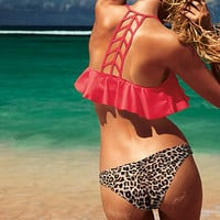 Ruched Cheeky Bikini - PINK - Victoria's Secret