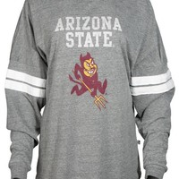 Official NCAA Arizona State University Sun Devils ASU FORK EM! Go Go Sparky Long Sleeve Tri- Blend Football Tee
