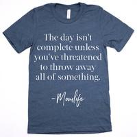The Day Isn't Complete Tee - Heathered Deep Teal (PREORDER)