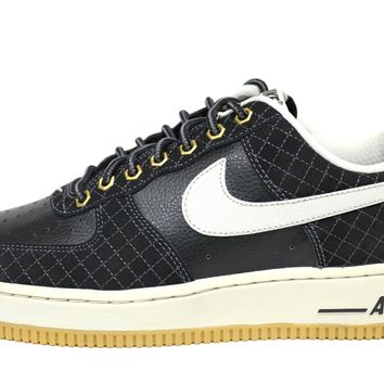 Nike Men's Air Force 1 Black/Light Bone Sneakers 488298 095