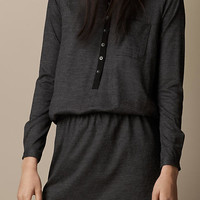 Wool Blend Henley Dress