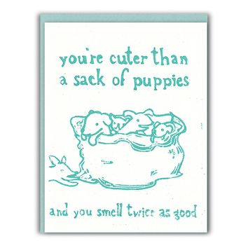 Sack of Puppies Card