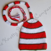 Striped Elfkin hat from The Knotty Boutique Company