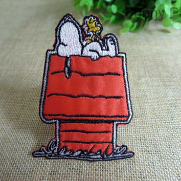 Snoopy and Woodstock Iron on Patch 076-HA