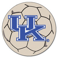 Kentucky Wildcats NCAA Soccer Ball Round Floor Mat (29) UK Logo