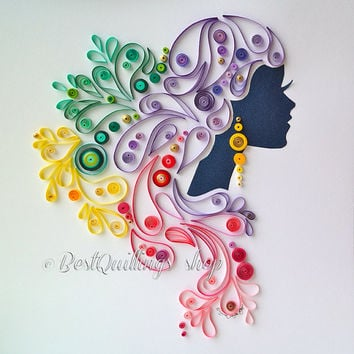 Paper quilling wall decoration for Deco quilling