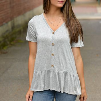 Famous Life Gray Top