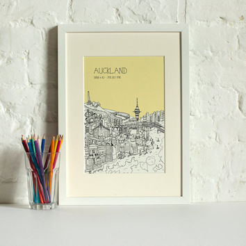 Personalised Auckland Print