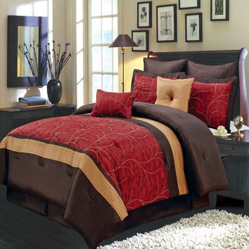 Atlantis Red 12-Piece Bed in a Bag