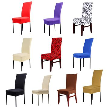 1pc Home Chair Cover wedding decoration Various Colors Polyester Spandex Dining Chair Covers For Wedding Party LS