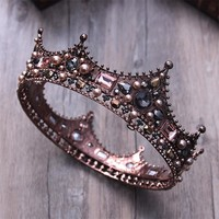 3 Styles Court Retro Baroque Bridal Tiara Queen King Crown