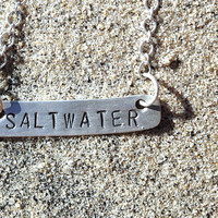 Sterling Silver Custom Stamped Bar Necklace