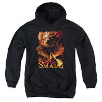 HOBBIT/SMOLDER-YOUTH PULL-OVER HOODIE - BLACK -