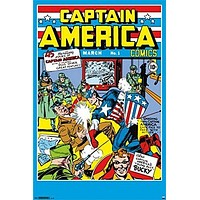 CAPTAIN AMERICA POSTER Comics Cover RARE HOT NEW 24x36