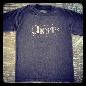 rhinestones cheer t - shirt