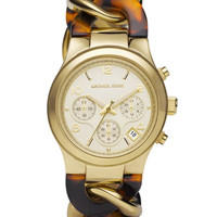 Michael Kors Chain-Link Watch, Tortoise