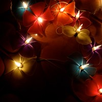 Colorful Floral Flower Handmade String Lights for Weddings, Parties, Home Decoration