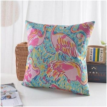 Fancy Flamingo Pillow Cover