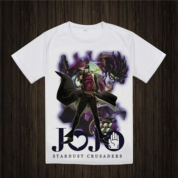 JoJo Bizarre Adventure T Shirt Design Manga Anime T-shirt Cool Novelty Funny Tshirt Style Men Women Printed Fashion Tee