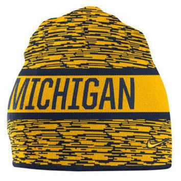 ONETOW NCAA Michigan Wolverines Navy Reversible Local DNA Knit Hat