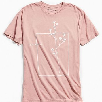 Shawn Mendes Floral Tee | Urban Outfitters