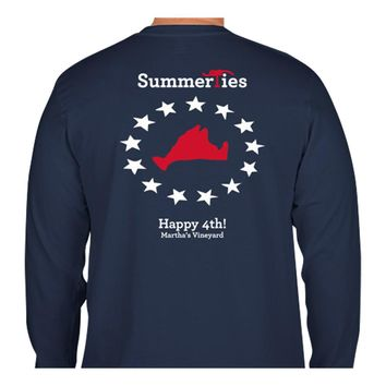 Martha's Vineyard 4th of July T-Shirt - Long Sleeve