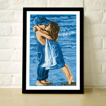 Sea Childhood Design Cross Stitch 49.5 * 36cm Cotton Embroidery kits DIY DMC Handmade Cross Stitch Kits Embroidery Needlework