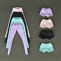 High Quality Elastic Leather Bottoms Pants Trousers For Barbie Doll Clothes Fashion Outfit For 1 6 BJD Dolls Accessories