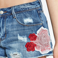FLORAL DENIM SHORTS - SHORTS-WOMAN | ZARA United States