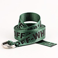 Off-White Woman Men Classic Fashion Canvas Belt