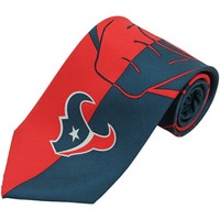 Houston Texans Fanatik Silk Tie - Navy Blue/Red
