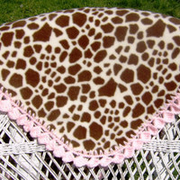 Crochet Pattern Giraffe Baby Blanket with Crocheted Edge