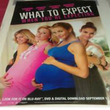 What to Expect When You're Expecting Movie Poster 27x40 Used Megan Mullally, Rodrigo Santoro, Steve Coulter, Wilbur Fitzgerald, Joe Manganiello, Jesse Burch, Chace Crawford, Maria Howell, Kim Fields, Dennis Quaid, Anna Kendrick