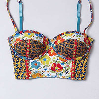 Anthropologie - Patchworked Blossoms Bra