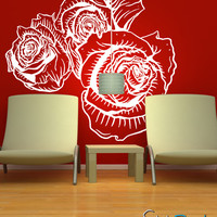 Vinyl Wall Decal Sticker Flower Floral #808